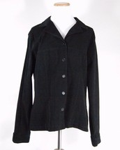 Sag Harbor Black Button Down Velveteen Shirt - Size 16 - $11.63
