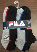 FILA Qwick-Dry Socks Men's 6 Pairs Sock Size 10-13 Shoe Size 6-12.5 Mult... - $10.64