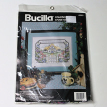 Our Little House Cross Stitch Kit Bucilla 14 x 11 Lorna Morley McRoden - $12.99