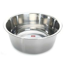 Kitchen Flower Round Stainless Steel Dishpan Basin Bucket Dish Washing up Bowl image 3