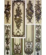 VERSAILLES CHATEAU Wooden Panels Moldings Trophies - A. RACINET Color Print - $21.60