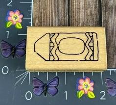 JRL Design Crayon Outline Rubber Stamp Wood Mount #L146 - $2.72