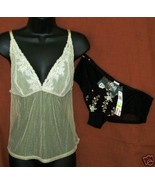 New DKNY sz Medium Camisole Boyshort Panties sheer stretch nylon combo M - $22.00