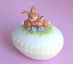 Enesco Easter Egg Bunny Trinket Box Jewelry - $18.00