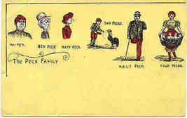 The Peck Family 1907 Post Card - $5.00