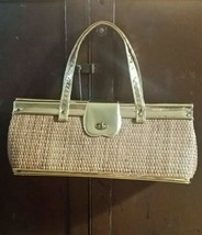 VIntage Gold Lame & Wicker Purse by Meyers USA - $49.49