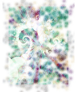 Softly Spiral, Fractal Based Image size 11x14,teal, purple,  - $24.99