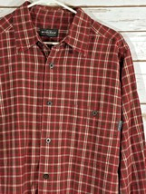 Woolrich Medium Red Grey Plaid Shirt TT - $12.17