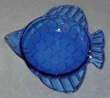 Cobalt Blue Decorative Fish Candy Bowl Dish