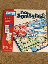 Parker Brothers No Apologies 2-4 Players Board Game (Ages 6+) - New! - $9.89