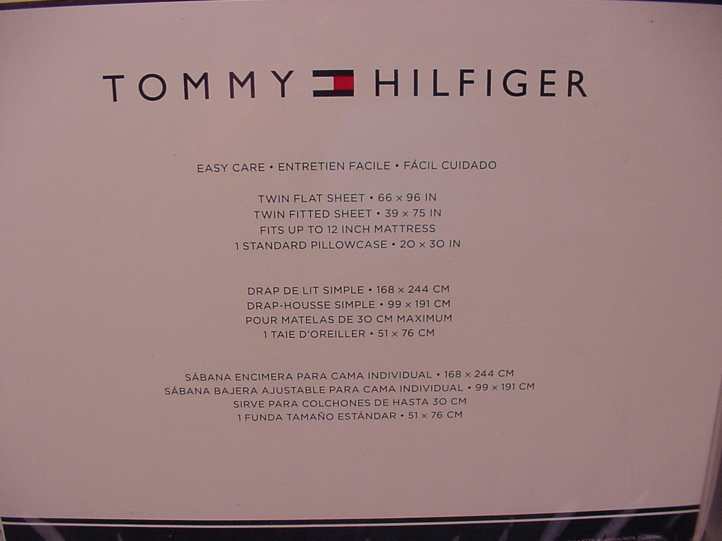 Tommy Hilfiger Ithaca Stripe Gray and White Sheet Set Twin