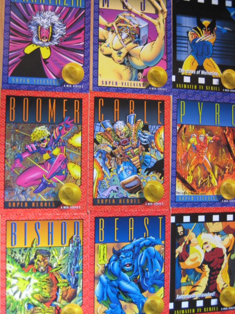x- men series 2 Super Heroes Trading Cards New