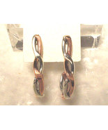 Shanrocks Copper and Sterling Twisted Post Earrings - $28.00
