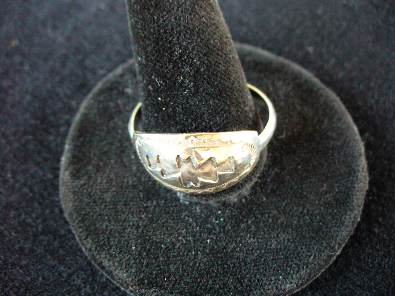 Aztec Symbol Sterling Silver Ring