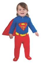 Superman Costume Baby Infant Newborn 0-6 months Rubie's 887601 - $12.86