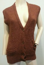 Vtg Cacharel Italy Brown New Wool Sweater Vest - $48.44