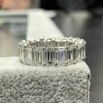 7 Ct Emerald Cut Diamond Eternity Women Wedding Band Ring 14K White Gold... - $108.89