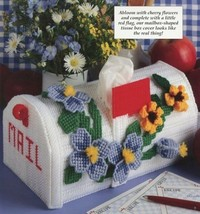 Mailbox Abloom Flowers Tissue Cover Plastic Canvas PATTERN/INSTRUCTIONS/NEW - $1.77