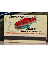 Vintage Matchbook M5 Seattle Washington Pacific Boat Ha Ma Craft 26 Skoo... - $53.99