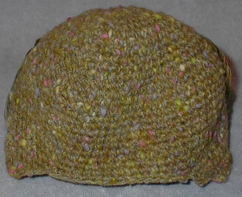 Vintage Women's Knitted Feather Hat