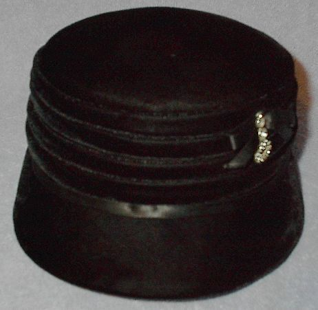 Vintage Black Women's Dress Hat