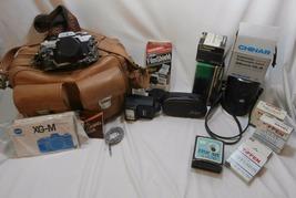 Minolta XG-M 35mm Film Camera Bundle 4 Lenses Flash Filters Camera Bag P... - $99.00