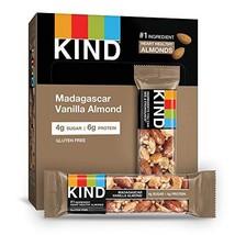 KIND Bars, Madagascar Vanilla Almond, Gluten Free, Low Sugar, 1.4oz, 12 ... - $20.75