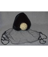 Vintage Dark Blue Veiled Women's Dress Hat - $15.00