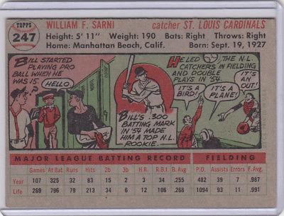1956 Topps 247 Bill Sarni Not Graded 04