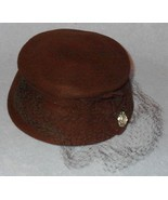 Vintage Brown Veiled Women's Dress Hat - $17.95