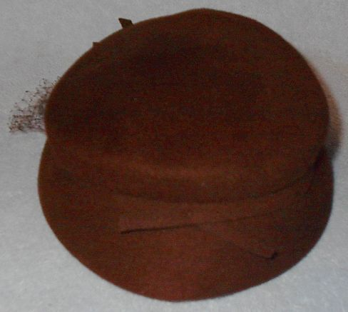 Vintage Brown Veiled Women's Dress Hat