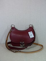 NWT Tory Burch Coffee Berry Red James Small Saddle Bag $598 - $493.02