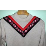 Men's 60's Vintage Mod Ski Sweater Large Rat Pa... - $24.00