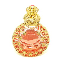 Czech Victorian Style Decorative Pink Perfume/Oil/Holy Water Holder - $22.27