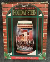 """1997 Budweiser Clydesdales Holiday Beer Stein """"Home For The Holidays"""" CS 313 - $16.82"""