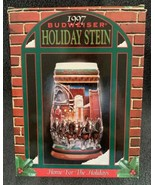 "1997 Budweiser Clydesdales Holiday Beer Stein ""Home For The Holidays"" CS... - $16.82"