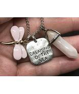 Good Quality Dragonfly Dream of Sea Pink & Hexagon Charm Tibetan Silver ... - $13.35