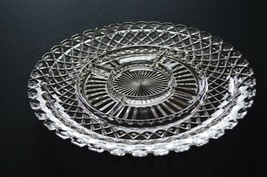 Anchor Hocking Waterford Waffle Divided Relish Serving Platter - $7.92