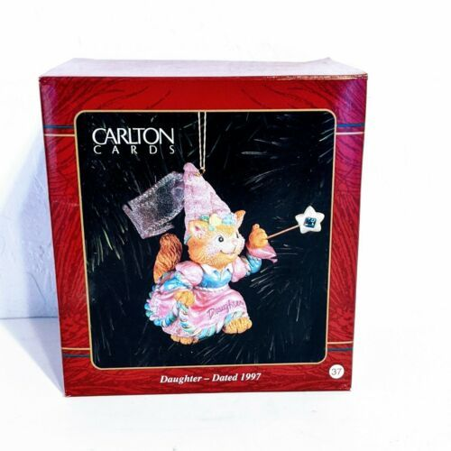 Carlton Cards 1997 Daughter Fairytale Cat with Wand Christmas Ornament - $10.69