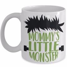 Kids Coffee Cup Halloween Mug Mommys Little Monster Cute Frankenstein He... - $19.11