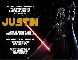Star Wars Darth Vader Birthday Party Invitations Invites Personalized Cu... - ₨70.16 INR+