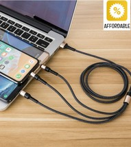 USB Cable Wire 5A Super Charging 3 in 1 Fast Charger For Huawei Mate 20 P20  - $9.33