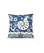 Throw Pillows marine life conch Cotton Linen Throw Pillow Cover (18*18 I... - $10.22
