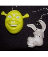 SHREK & DONKEY EARRINGS Fun Movie Toy Character... - $6.97