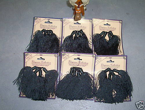 "Lot of 24 Forest Green Tassels 3"" NEW"
