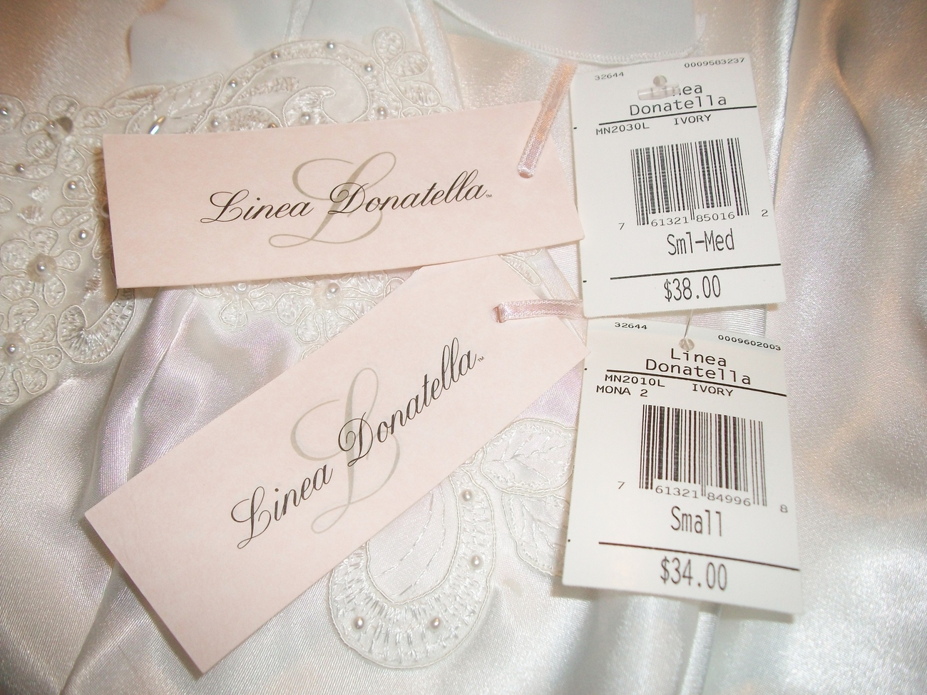 SALE! LINEA DONATELLA Liquid Satin Bridal Chemise & Robe