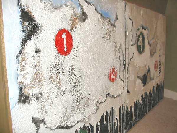 Mixed Media NYC MTA Subway Abstract Art Nyugen E. Smith