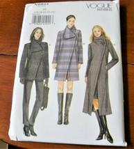 Vogue Pattern V8933 Coat & Jacket Asymmetrical Front New Factory Folded * - $9.88
