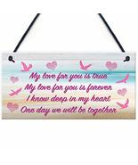 Meijiafei Love for You Memorial Loving Memory Heaven Gift Hanging Plaque... - $12.34