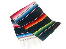 "One Sarape Blanket Wholesale Price 58""x80"" Reversible Mexico Throw Party... - $30.44 CAD"